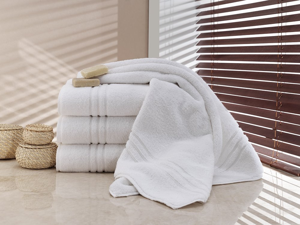 AperfectioN Turkish Bath Towel, Luxury Hotel & Spa 100% Genuine Turkish Cotton 700 GSM, White, Set of 4 review