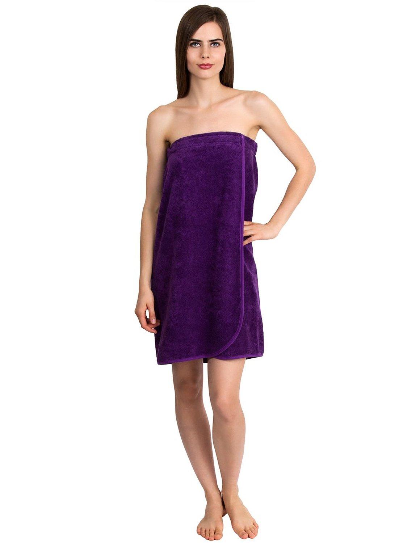 TowelSelections Cotton Terry Bath Towel Shower Wrap for Women Large Purple review
