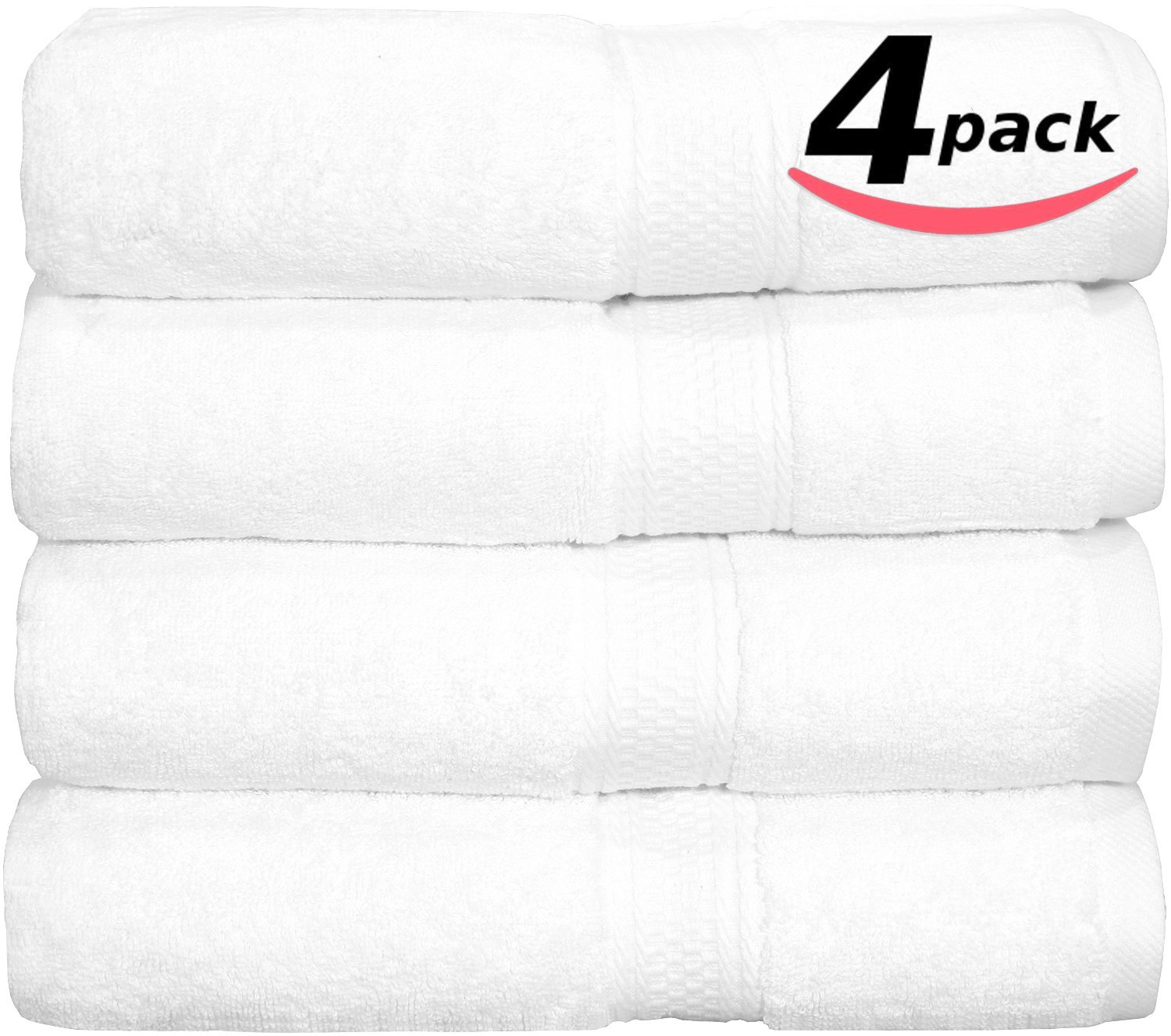 Premium Hotel & Spa Bath-Towels White – 4 Pack 100% Cotton Bath Towels, 27″ X 54″ Easy Care, 700 GSM Ringspun Cotton for Maximum Softness and Absorbency by Utopia Towels review