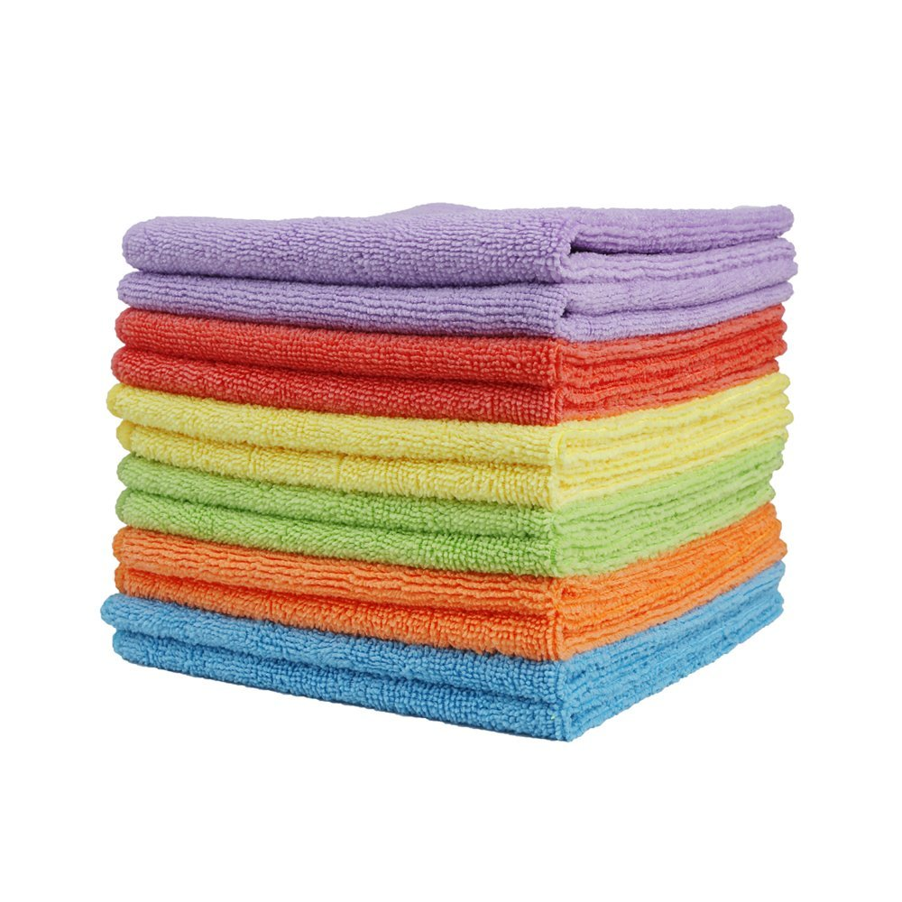 Clean Leader Microfiber Cleaning Cloths Best Kitchen Dish Cloths with Poly Scour Side,13.7 By 13.7-inch,multifunctional Microfiber Towel for Dish Towels,bath Towels,car Washing,6 Colors – 6 pieces review