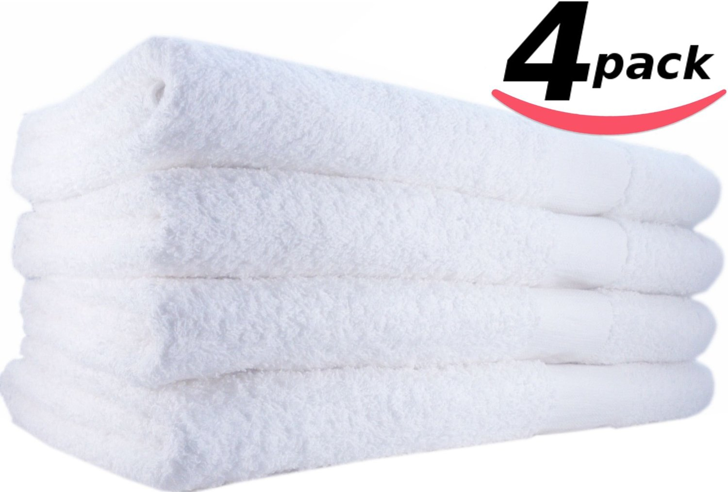 Hotel-Spa-Pool-Gym Cotton Hair & Bath Towel – 4 Pack, White, Super Soft, Easy Care, Ringspun Cotton for Maximum Softness and Absorbency (24″x 48″) by Utopia Towel review