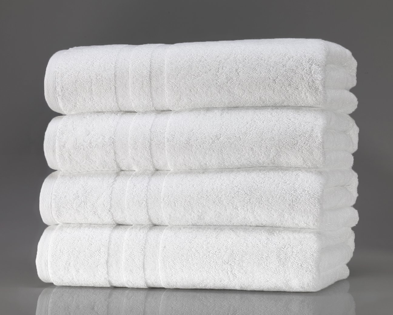 Bath Towels- White, Ultra- Soft and Absorbent Towels, Luxury Spa, Salon, and Hotel Towels. More- Fibrous Threads and Moisture- Sucking Loops, 100% cotton. 27″x54″, Set of 4 review