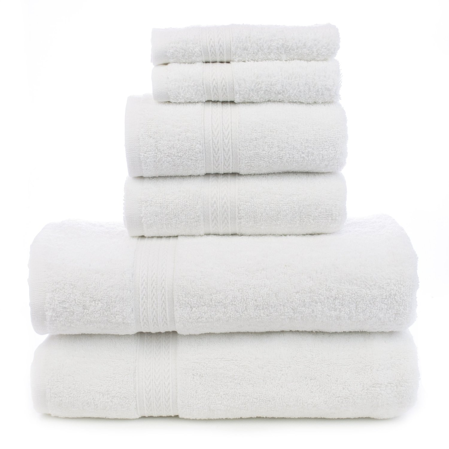 Soft Touch Linen Terry Cloth Towel Set, 2 Bath Towels, 2 Hand Towels, 2 Washcloths, White review
