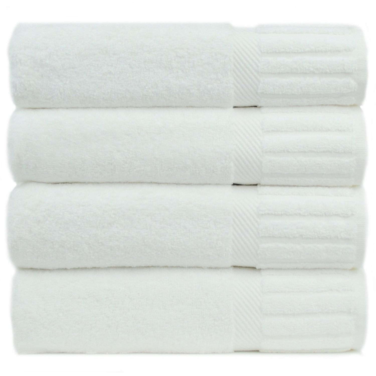 Bare Cotton Turkish Cotton Bath Towels, White, Piano, Set of 4 review