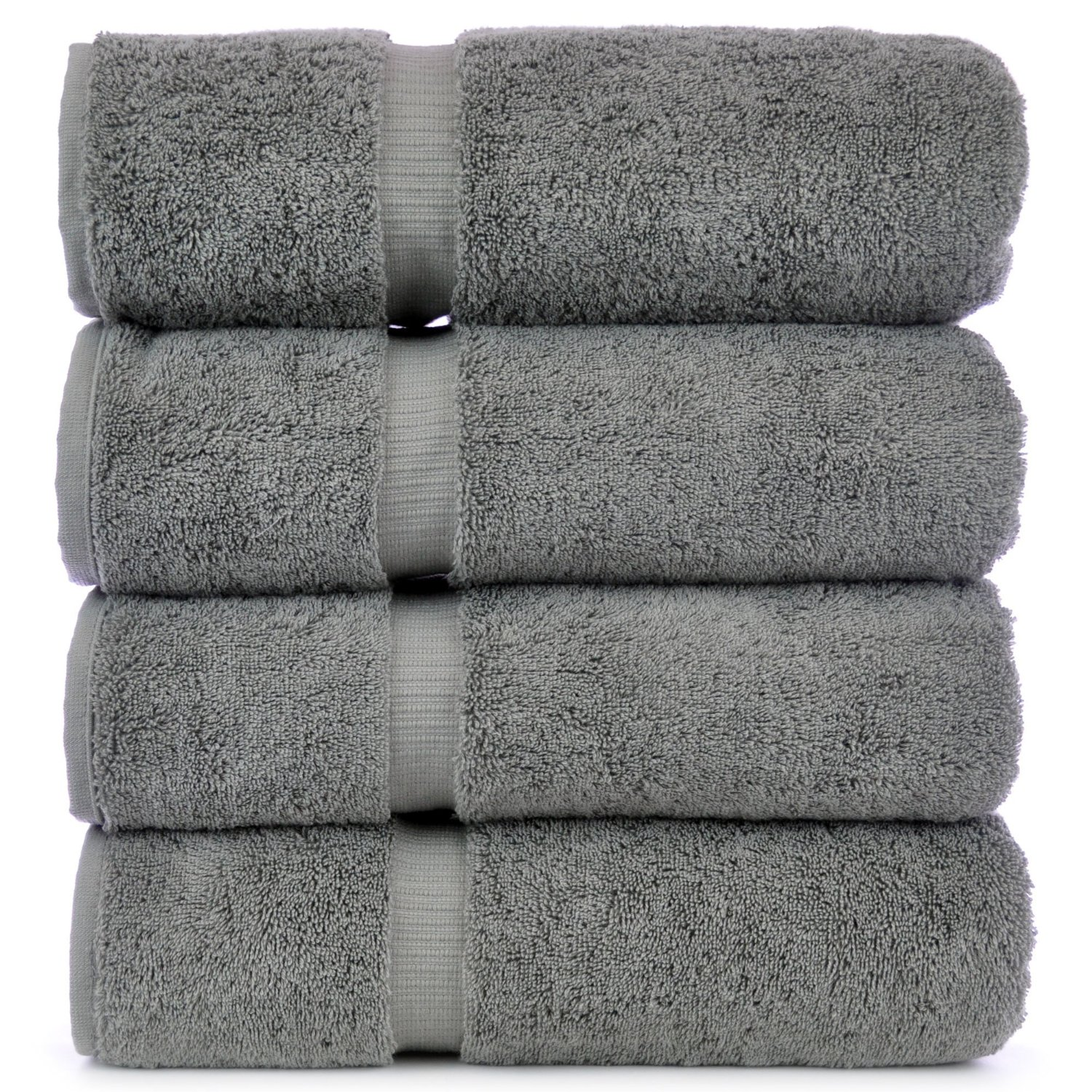 Luxury Hotel & Spa Towel 100% Genuine Turkish Cotton (Bath Towel  – Set of 4, Gray) review