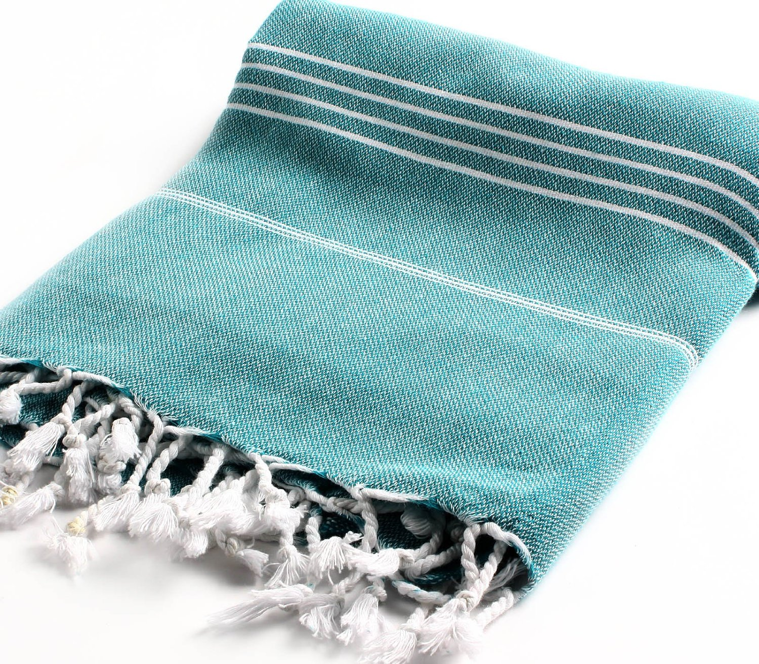 Cacala 100% Cotton Pestemal Turkish Bath Towel, 37 x 70″, Aqua review