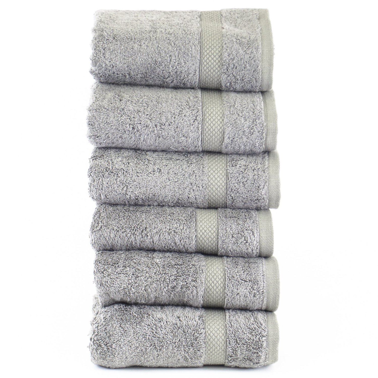 Luxury Hotel & Spa Towel 100% Genuine Turkish Cotton Bamboo (Gray, Bath Towel  – Set of 4) review