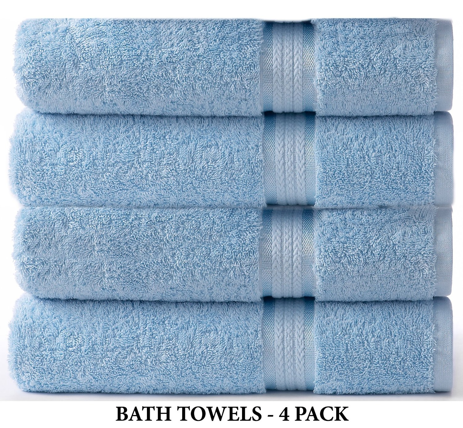 Cotton Craft Ultra Soft 4 Pack Oversized Extra Large Bath Towels 30×54 Light Blue weighs 22 Ounces – 100% Pure Ringspun Cotton – Luxurious Rayon trim – Ideal for everyday use – Easy care machine wash review